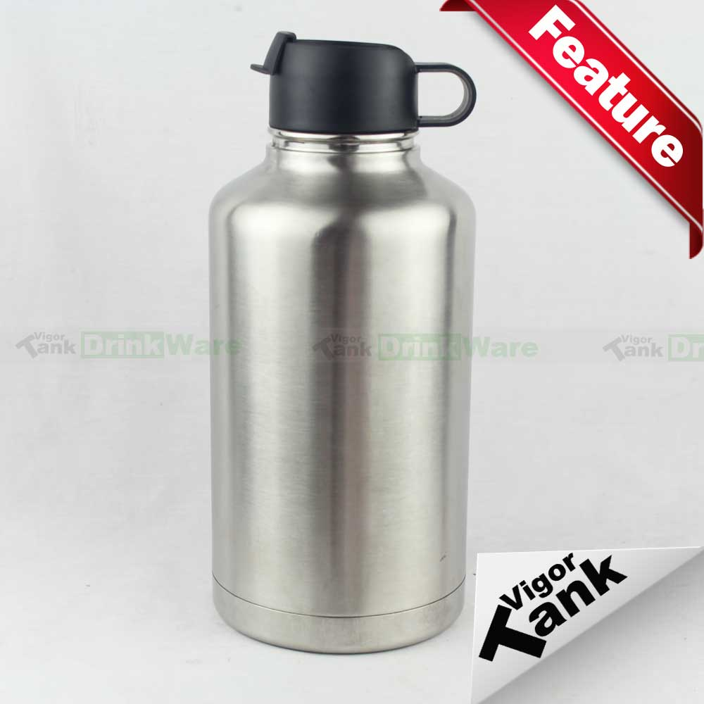 64oz Stainless Steel Large Thermos Flask, Keep Beer Cold for Hours