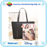 2015 New design wholesale fashion canvas women bag lady bags, lady canvas tote bag