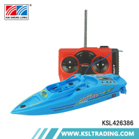 Popular two pieces racing remote control bait boat toys with inflatable pool