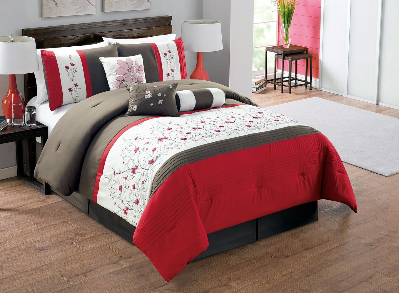 sale comforter clearance bedroom floral and bedding extraordinary red set stunning jcpenney decoration king cheap cream in ideas s for sets bed rustic themed