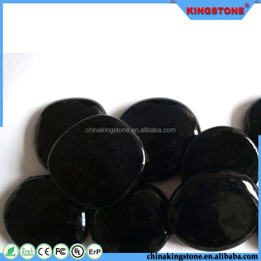 Professional production black stone pebble for landscaping,mixed color pebble stone,top quality red river pebble