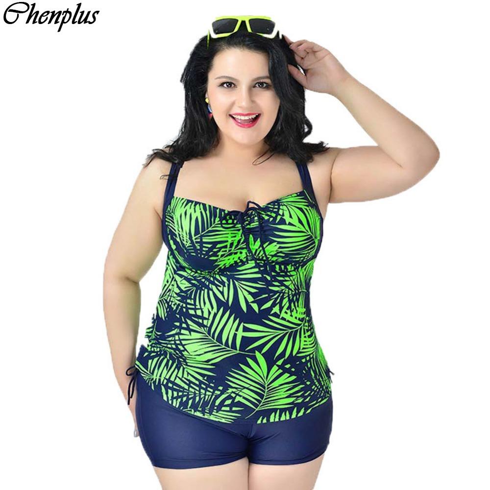 xxl 6xl woman big size tankini floral print maillot de bain summer style swimsuit swimwear in. Black Bedroom Furniture Sets. Home Design Ideas