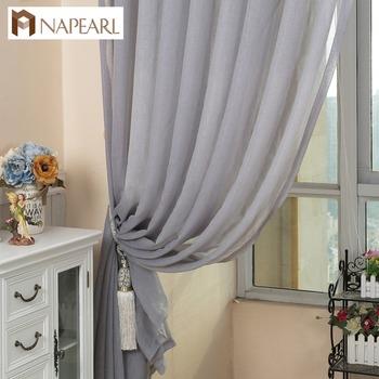 napearl 100 polyester hot koop factory effen grijs voile gordijnen net sheer gordijnen stoffen voor