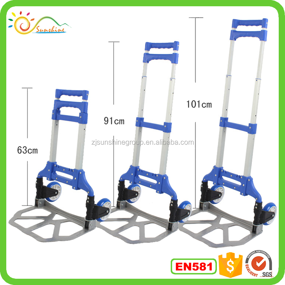 2 Wheel Mini Airport Luggage Carts Portable Luggage Trolley