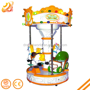 Amusement park kiddie rides mini merry go round small carousel for sale