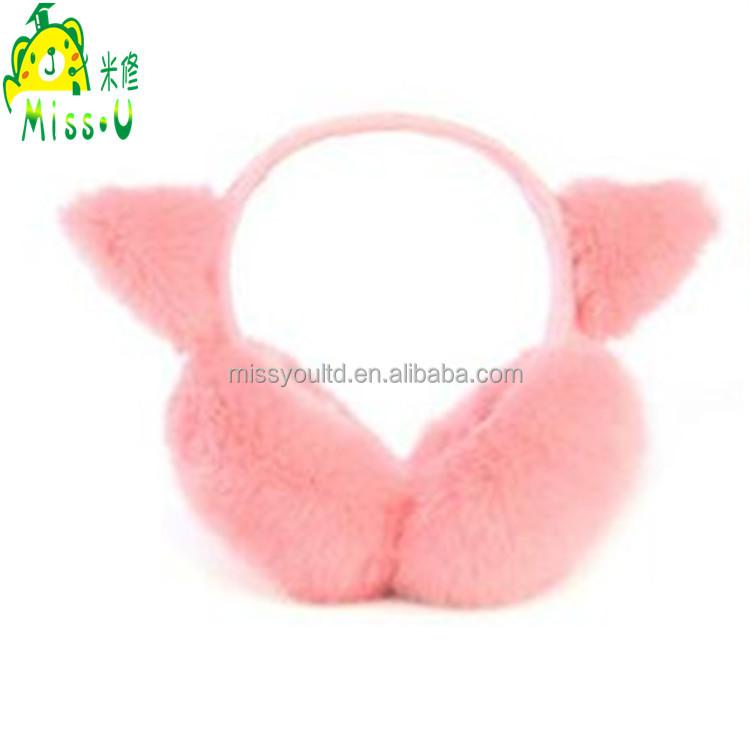 Hot Sale Stuffed Plush Earmuff Winter Warm Fluffy Plush Earmuff