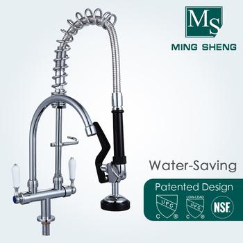 Canteens Chrome Plating Deck Mount Dual Ceramic Handle Commercial Single Kitchen Water Tap Mini Pre Rinse Unit Faucet Buy Mini Pre Rinse