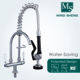 Canteens Chrome Plating Deck Mount Dual Ceramic Handle Commercial Single Kitchen Water Tap Mini Pre-rinse Unit Faucet