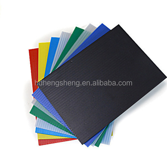 Eco friendly plastic board custom made corrugated pp plastic sheet
