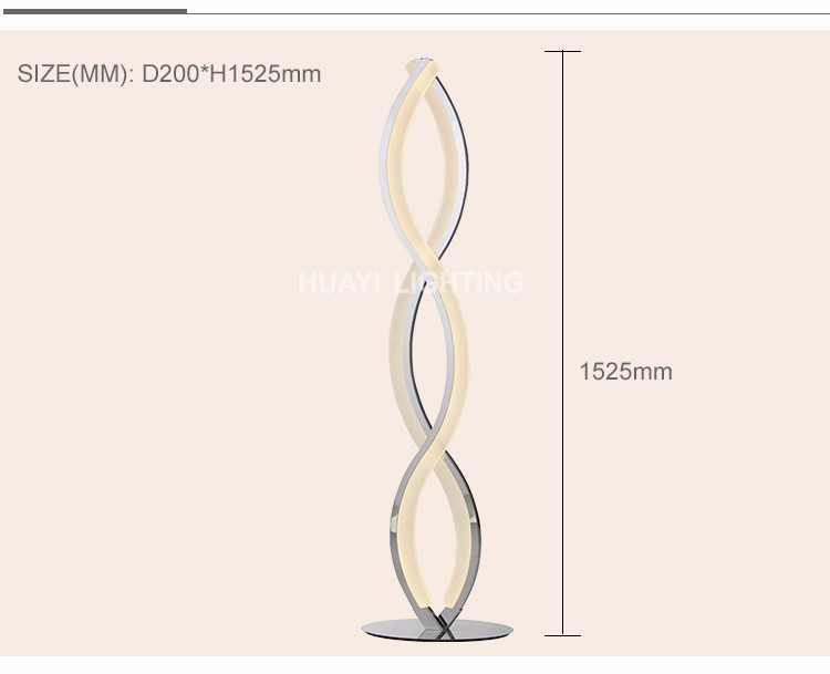 2017 New Products Indoor wholesale fashion floor lamp and modern floor lamp