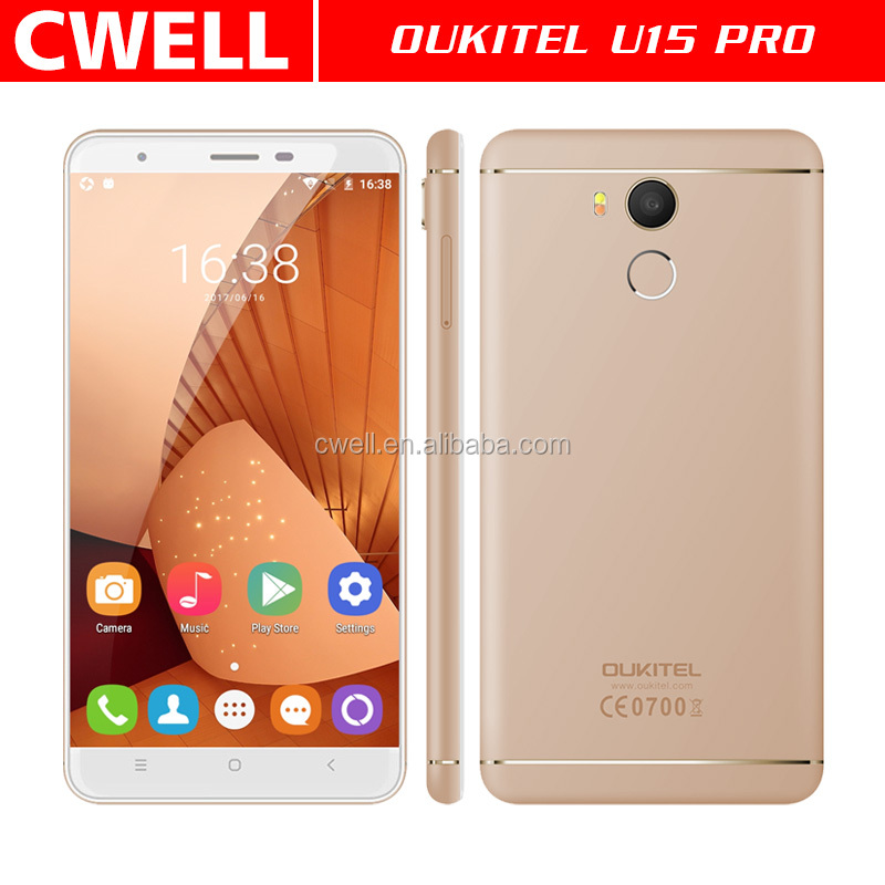 5.5 Inch IPS Dual SIM MTK6753 Octa Core Metal Body Ultra Slim Fingerprint Android Mobile Phone OUKITEL U15 Pro