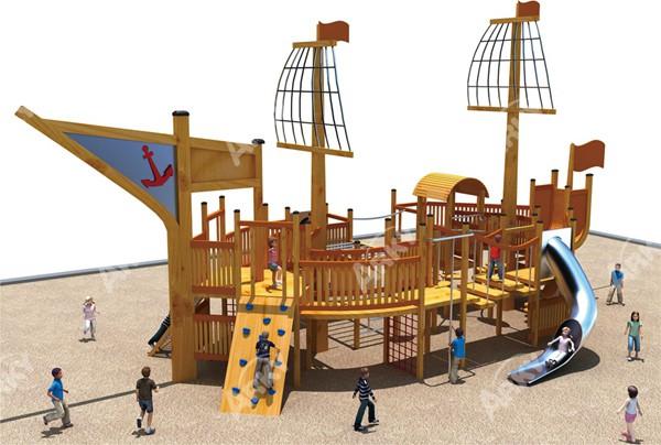 mejor calidad barco pirata de madera juegos infantiles al aire libre para nios juego