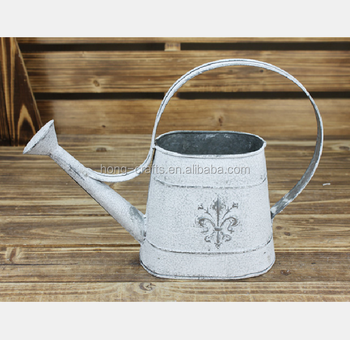 White Metal Watering Cans Whole