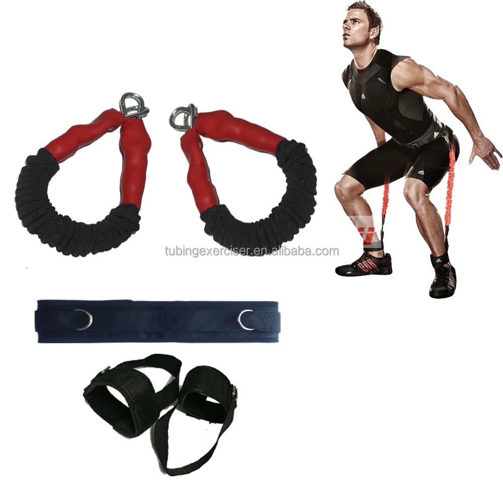 Factory price fitness training leg ankle straps for vertical jumping training, Black;blue;gray;yellow;purple;red