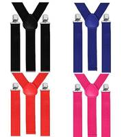 Wholesale Mens Suspenders Braces Trouser Adjustable Strong Clip On Elastic Formal Wedding Suspender AD2202