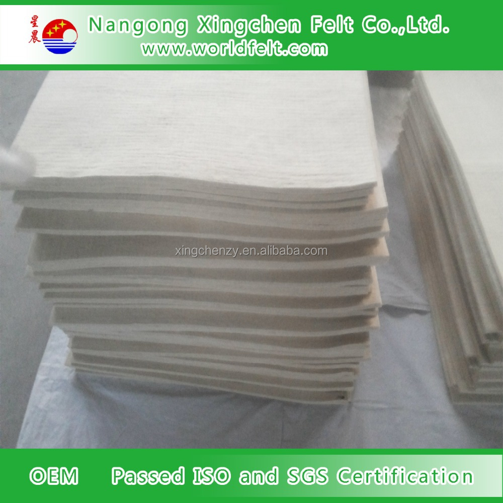 thickness 10mm wool felt white color