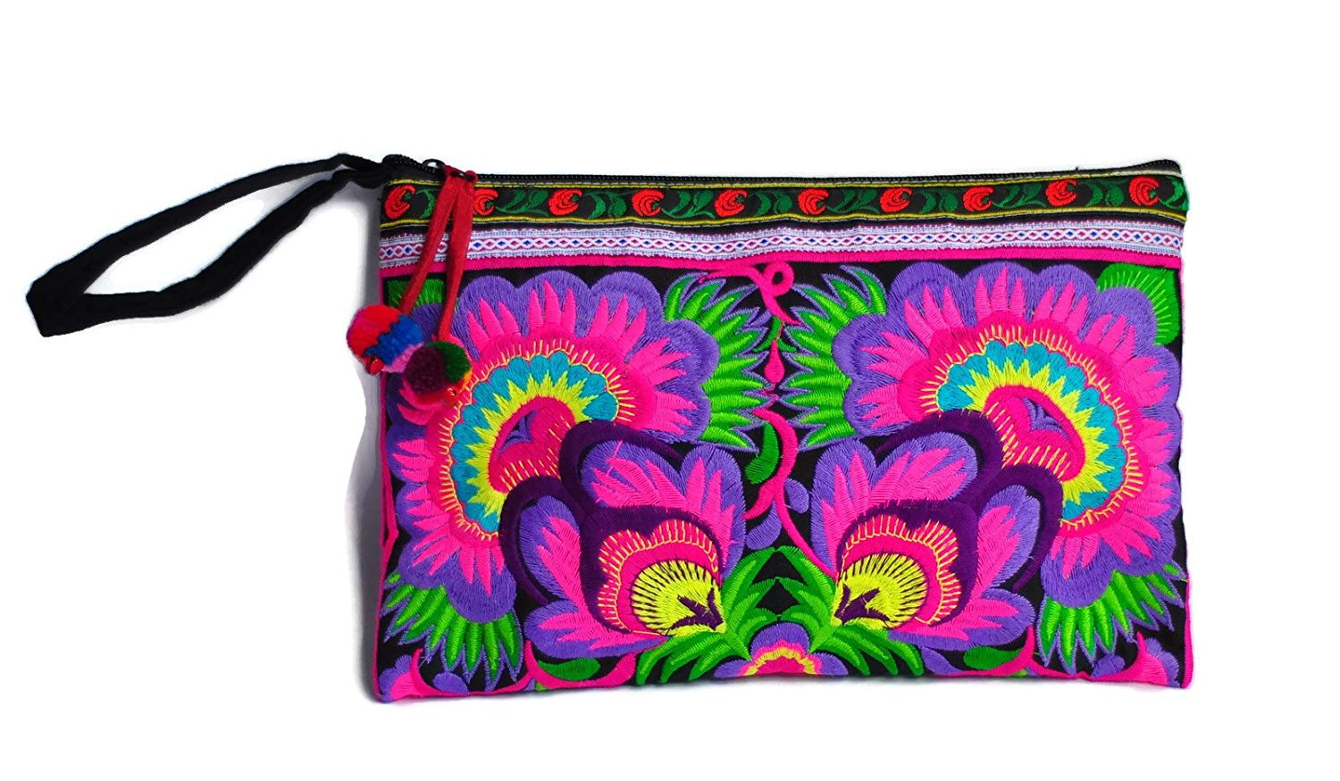 Get Quotations · Hill Tribe Handmade Hmong Embroidered bag Thai Boho Small  Clutch Purse Bag Handbags Purse Women bag dbee63d02b5ef