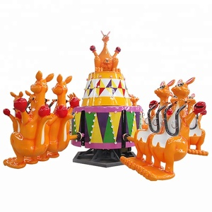 12 Seat Indoor Amusement Rides Happy Jumping Machine Rotary Kiddy Kangaroo Jump Ride