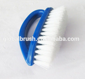 HQ2613 Iron Shape Bathroom Floor Cleaning Brush Mouse Style PP Hand Brush
