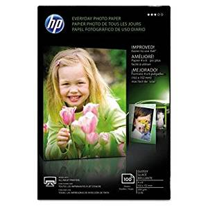 "Hp - 3 Pack - Everyday Glossy Photo Paper 53 Lbs. 4 X 6 100 Sheets/Pack ""Product Category: Paper & Printable Media/Printer Paper"""
