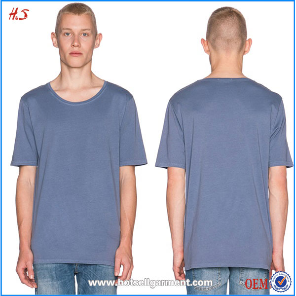 Classic Style Regular Round Neck T Shirts Manufacturers China Soft Touch 100% Organic Cotton Fabric T-shirt for Man
