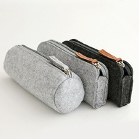 customized China Wallet Fashion Felt Pencil Pouch Pen bag Pencil case For Student Office