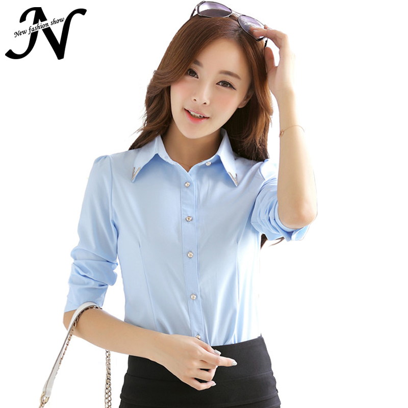 Ladies Office Shirts 2015 New Fashion Women Blouse Uniform Designs Autumn Long Sleeve Women Tops And Blouses Korean Style 6365