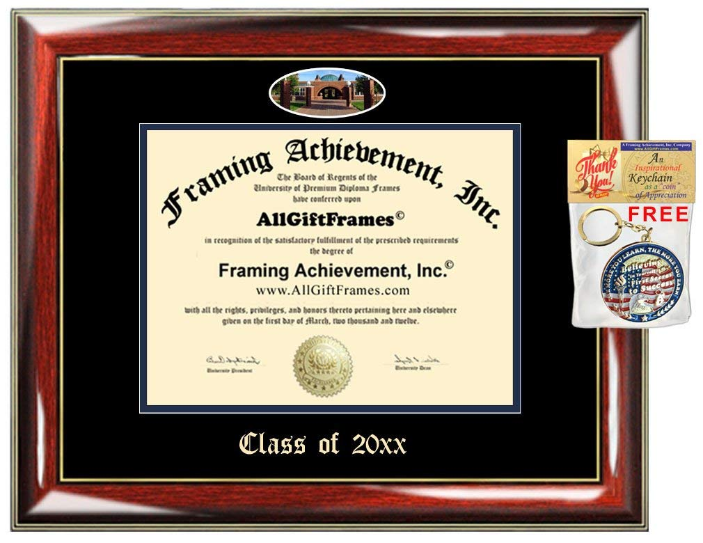 AllGiftFrames Custom Diploma Frame Quinnipiac University Embossed College Best Quinnipiac Graduation Degree Frame Double Mat Campus Fisheye Picture Frame Cheap Graduate Gift