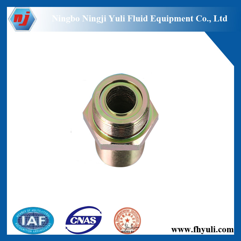 ORFS stainless steel hydraulic coupler with flat seal