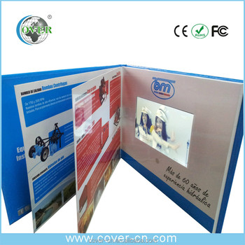 Factory Supply multiple inner pages video brochure with light sensor for promotion/Advertising/wedding
