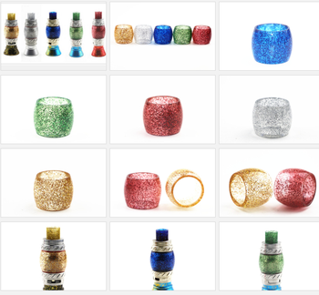 tfv8 big baby beast Replacement tube tfv12 cleito 120 resin epoxy tube colored  glass tube sleeve