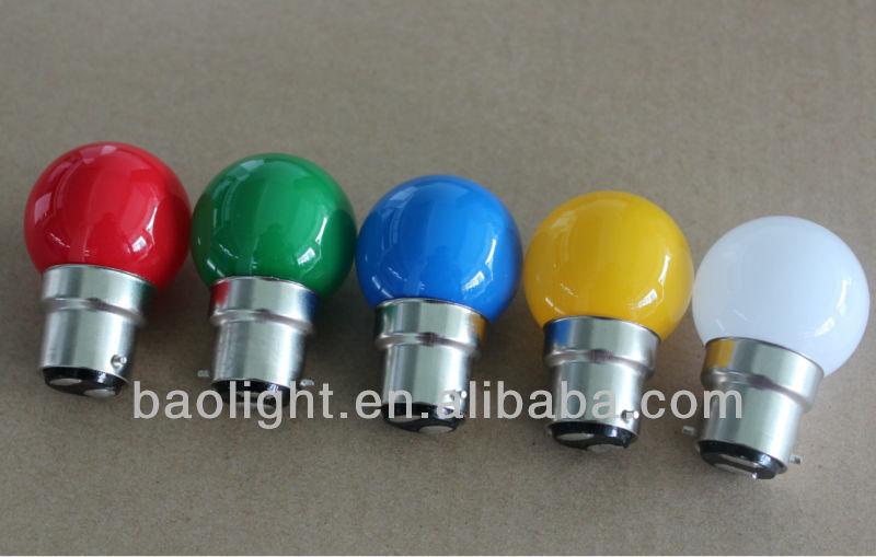 Full Colors Christmas Lights 1 Watt Led Bulb E27/b22 240v