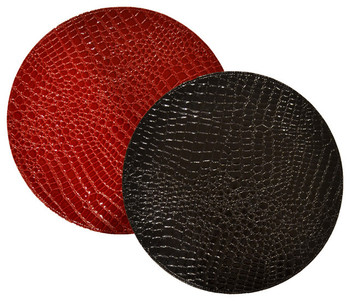 Crocodile Pattern Round Table Placemats