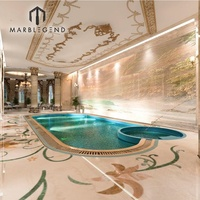 Customized luxury style building interior swimming pool 3D design services