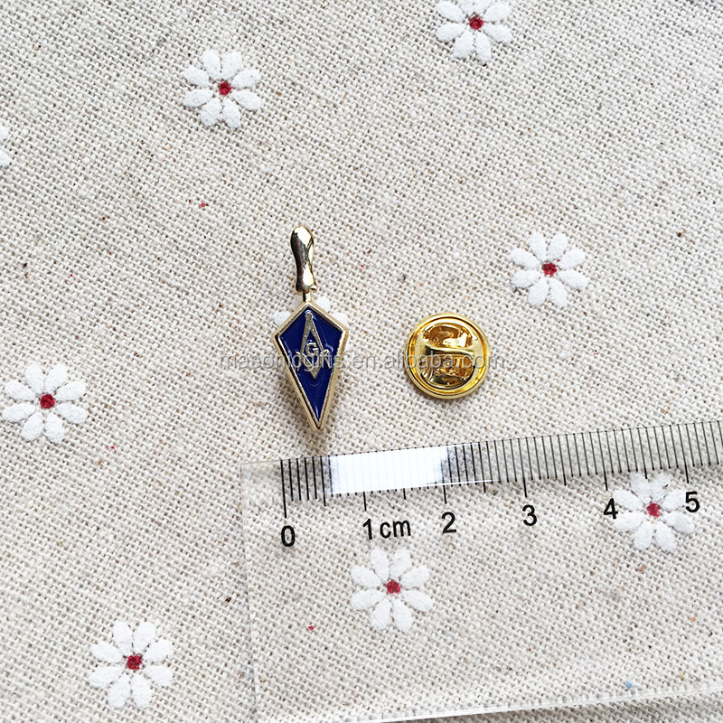 Custom Enamel Badge 1'' High Trowel Masonic Freemason Tool Masonry Square and Compass Lapel pin Mens Brooch Metal <strong>Craft</strong>