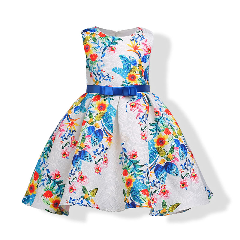 802b006c699a Girls Summer Designer Formal Party Dress New 2018 Girls Floral Print ...