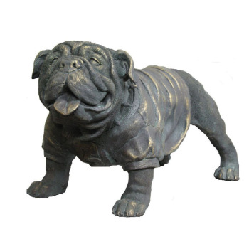 Life Size Metal Dog Bronze French Bulldog Statue