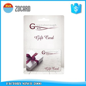 Custom barcode fancy plastic gift cards with gift card envelope or holder