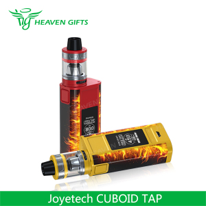 Detachable structure, easy to clean 4ml Joyetech CUBOID TAP 228w tc starter kit cigar electronic