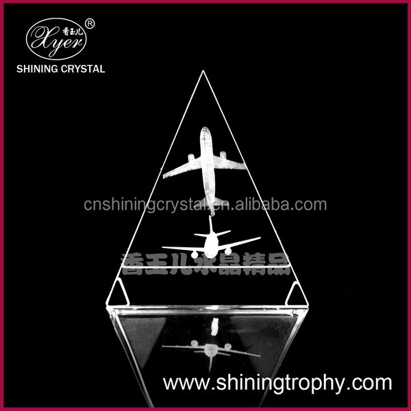 3D laser engraving airplane model