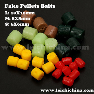 Wholesale carp fishing soft fake pellets baits