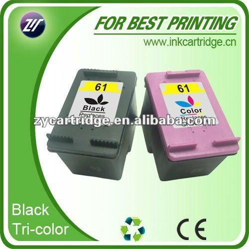 Hot item compatible 61 ink cartridge for Hp, with decent neutral retail packaging.