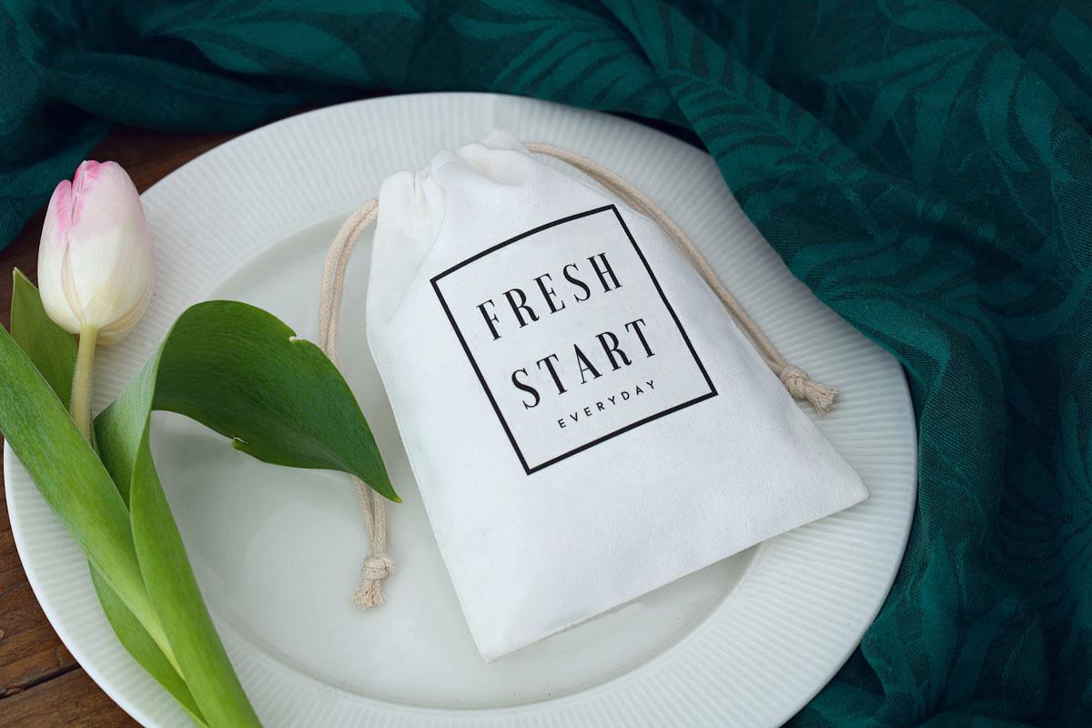 Custom Hemp Plain Organic Muslin Cotton Calico Drawstring Bag Small