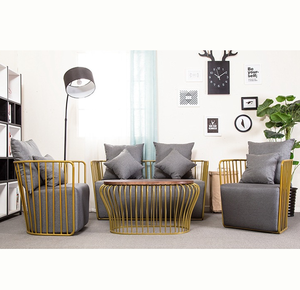 New design hotel chesterfield metal wire sofa set