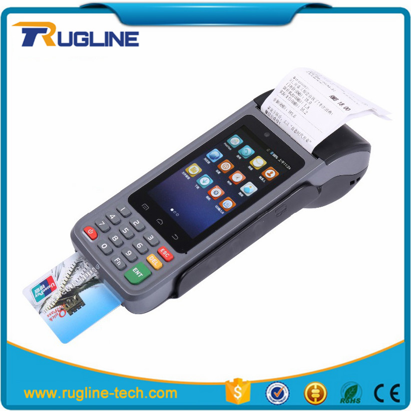 Cheap mobile 4 inch touch screen tablet payment terminal android handheld edc printer pos android