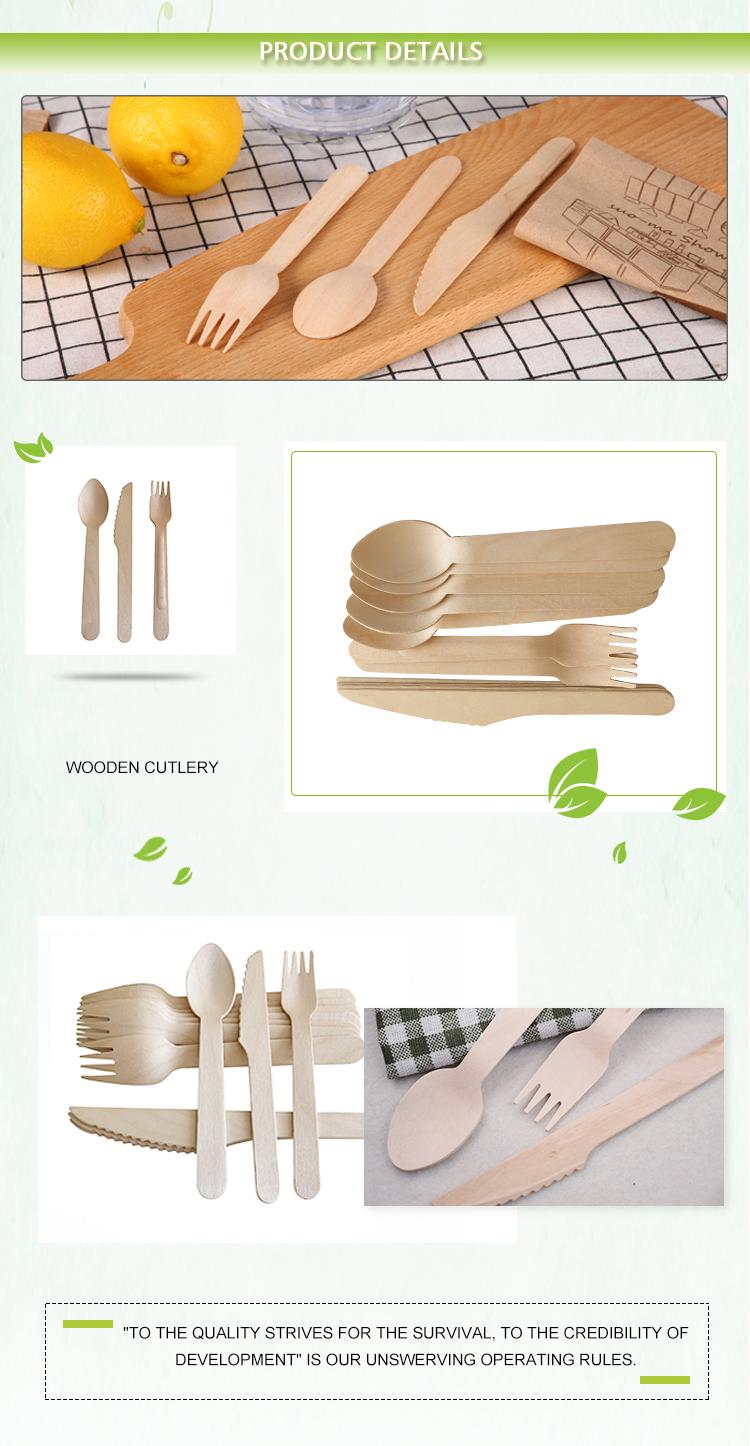 生分解性エコフレンドリー使い捨て木製カトラリーフォーク食品