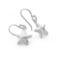 Tiny Starfish 925 Sterling Silver Dangle Earrings Nautical Jewelry