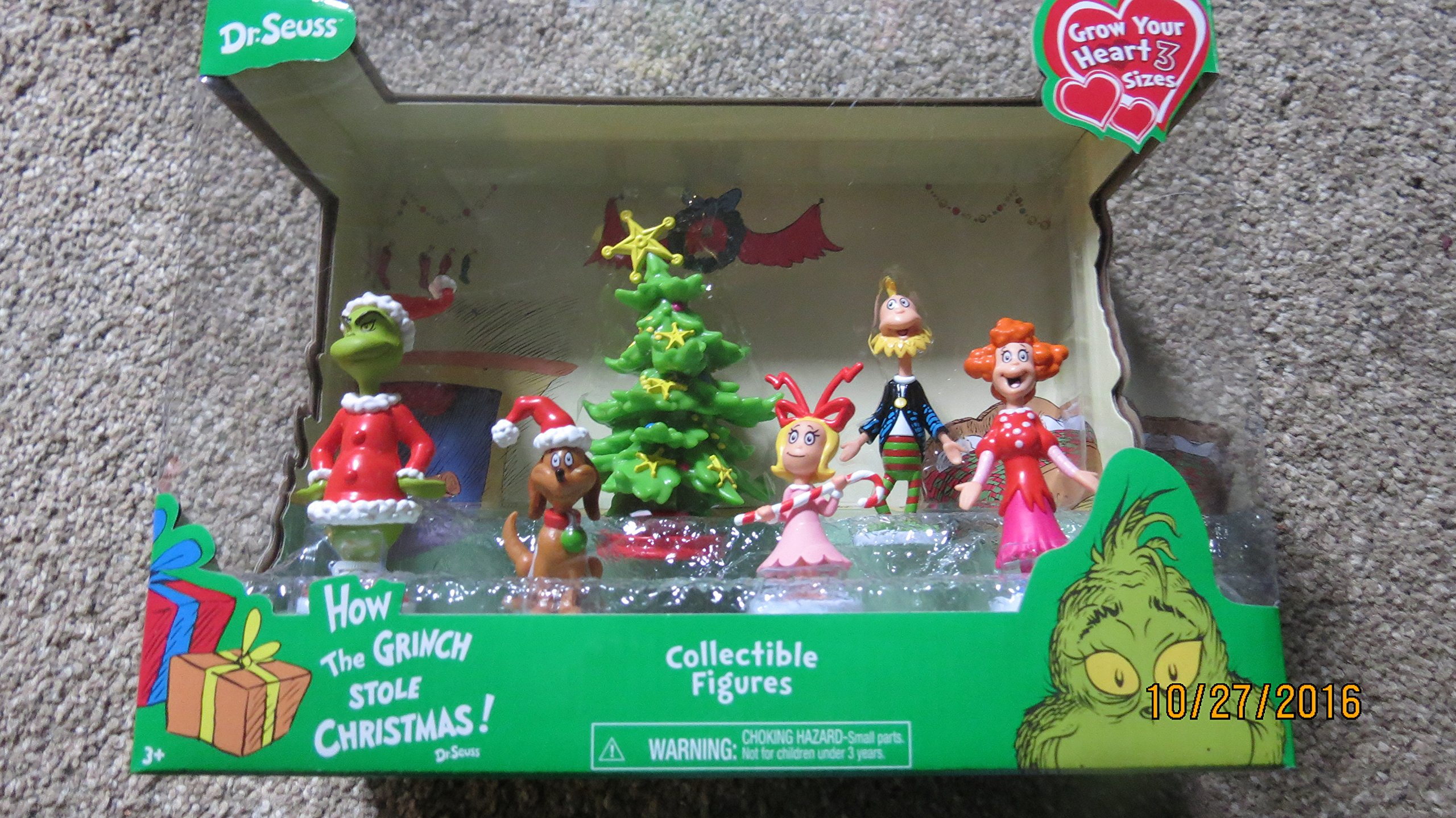 get quotations dr seuss how the grinch stole christmas collectible figures