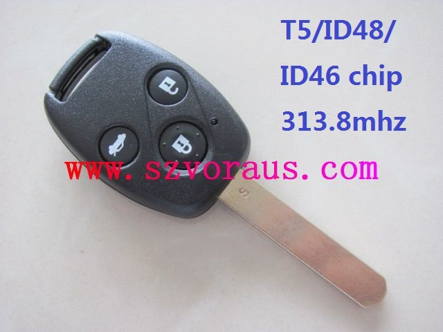 Ho 3 button remote key (1-7 generation)with T5/ID46 chip 313.8 mhz , auto remote key