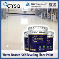 Water based self leveling epoxy floor coating